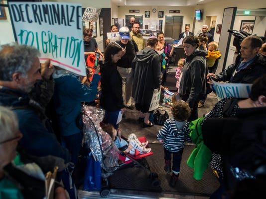 USP NEWS: IMMIGRATION PROTEST A USA VT