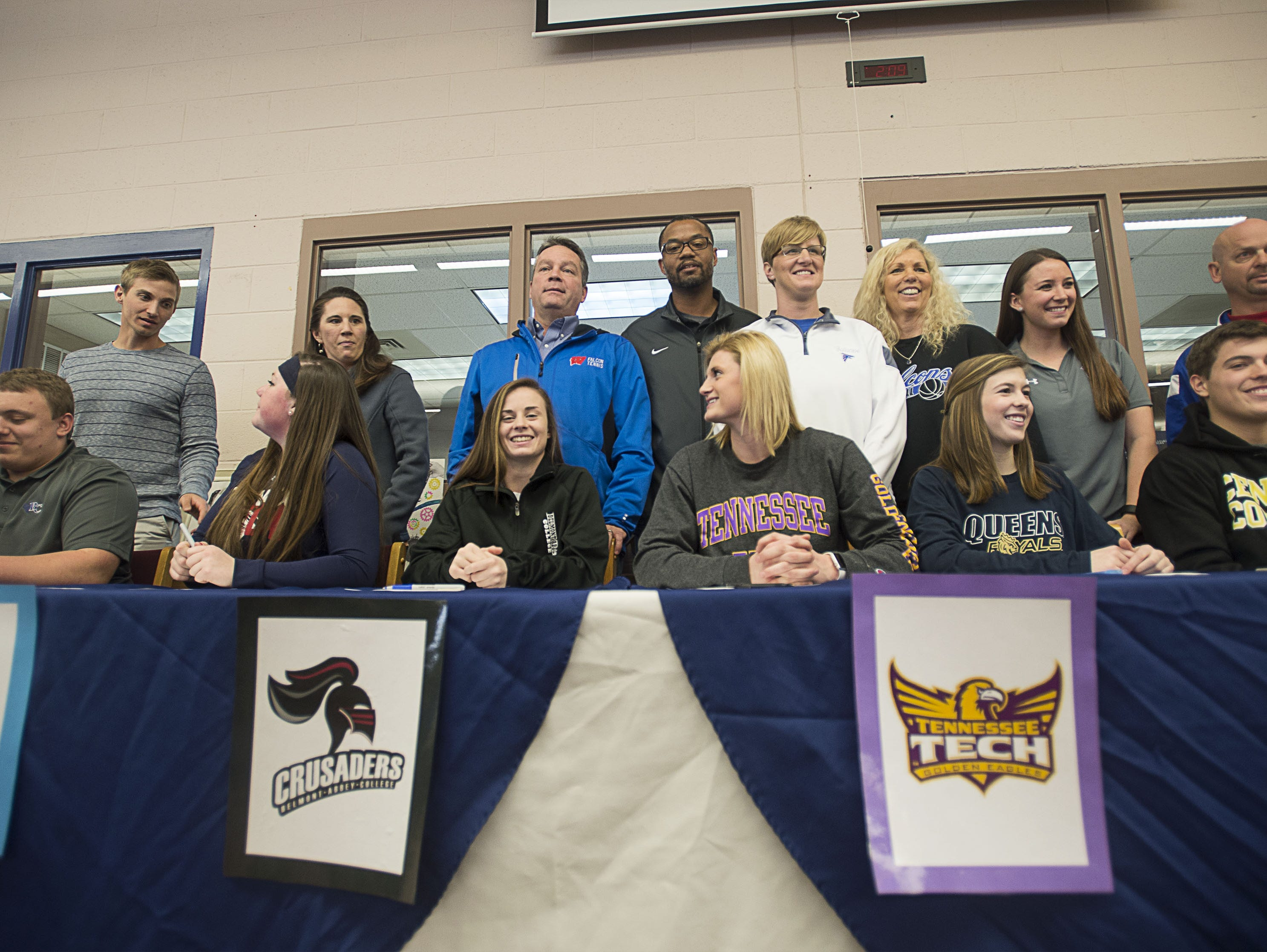 West Henderson held an athletic signing on Friday for six of its senior athletes.