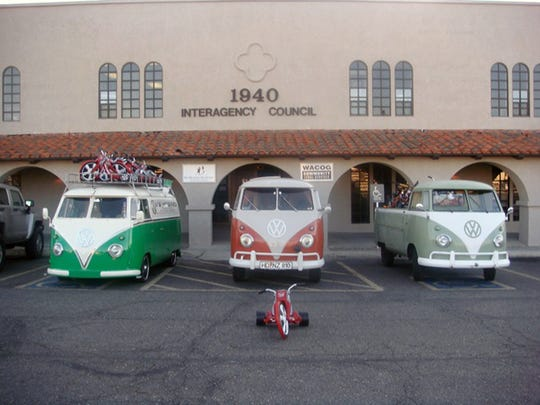 Expect to see Volkswagen buses of all types can be seen at the annual Buses by the Bridge at the Windsor Beach State Park in Lake Havasu City.