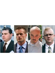 Former Blackwater guards, from left, Dustin Heard,