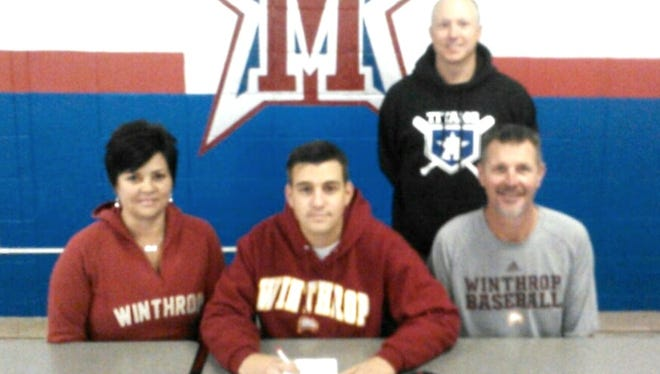 McDowell senior Trevor Newman has signed to play college baseball for Winthrop.