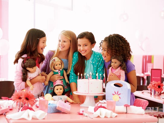 An American Girl birthday party at the cafe.