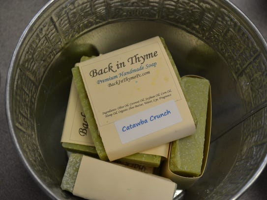 The handmade soaps at Back in Thyme are either organic