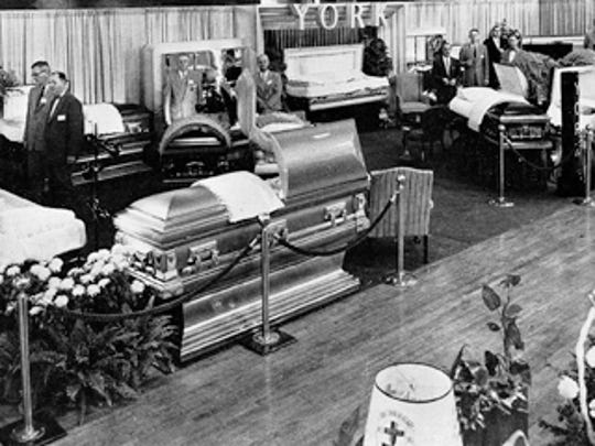 York Casket exhibit at national convention. (Jim McClure's blog)submitted
