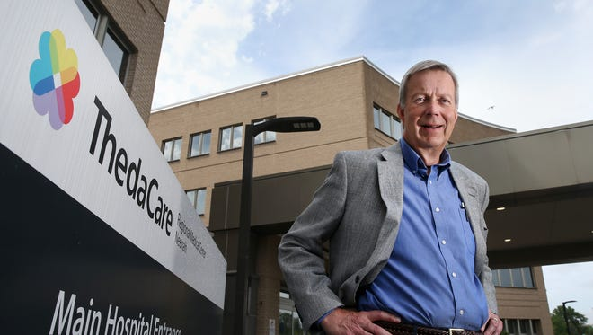 Past ThedaCare president & chief executive officer Dean Gruner stands outside of ThedaCare Regional Medical Center-Neenah on June 13. Gruner's last day in the position was June 16.