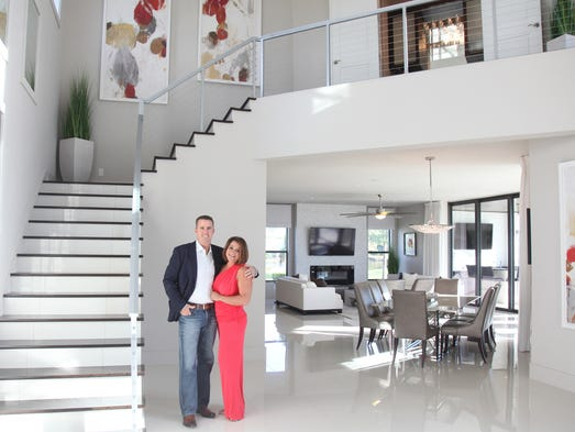 Mike and Dawn Sullivan in their Cape Coral home.