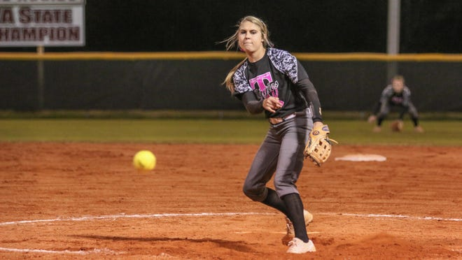 Tate's Savannah Rowell will be one of three local softball players taking part in the FACA All-Star series this weekend.