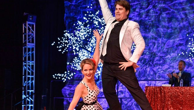 In a single evening, Erin Scott paid her parents back for all those childhood dancing lessons … she's the 6th Annual Desert Dancing Star! Erin Scott and her partner Robert Reinhagen.