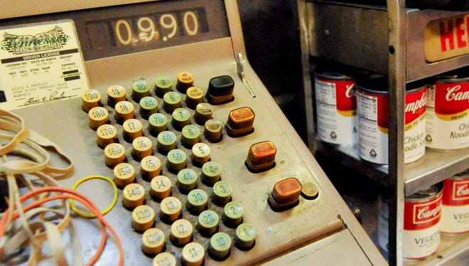 An old fashioned cash register