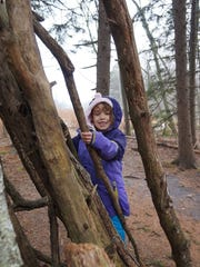 Climbing trees (with supervision) can be a fun activity for kids even when the weather's cold - given that it's not icy or too windy, of course.