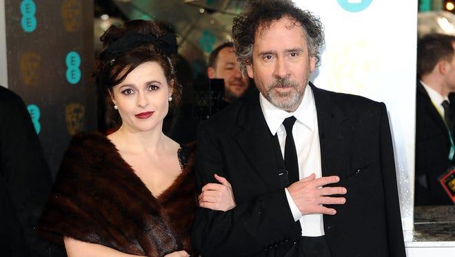 Helena Bonham-Carter and Tim Burton at BAFTA Film Awards in London in February 2013.