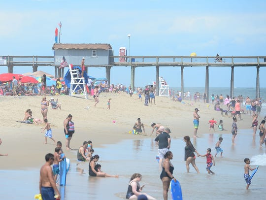 Ocean City lifeguards use hand signals to communicate