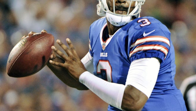 EJ Manuel will replace Tyrod Taylor Sunday in New York.