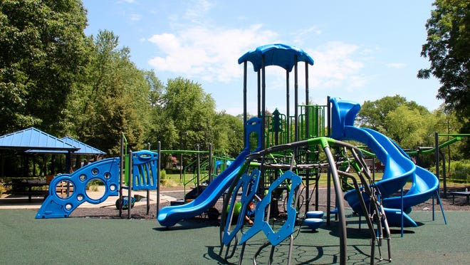 Playground equipment at Lakeview City Park was installed by the city of Holland Parks and Recreation Department last week.