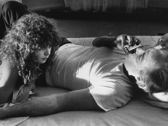Marlon Brando (right) and Maria Schneider in 'The Last