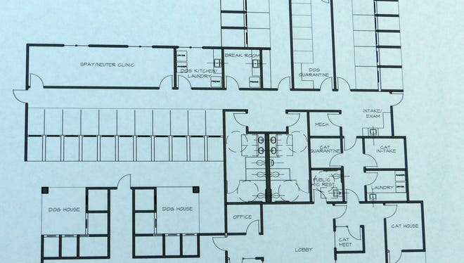 Rotary members also could view the layout of the new shelter.