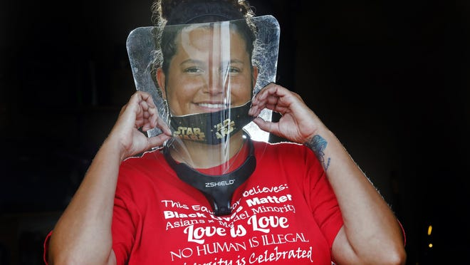 Sherise Thompson, who teaches English as a second language at Hilliard Memorial Middle School, plans to wear a face shield and a mask when in front of students, but she said she will lower her mask occasionally so students can see how she forms words and enunciates.