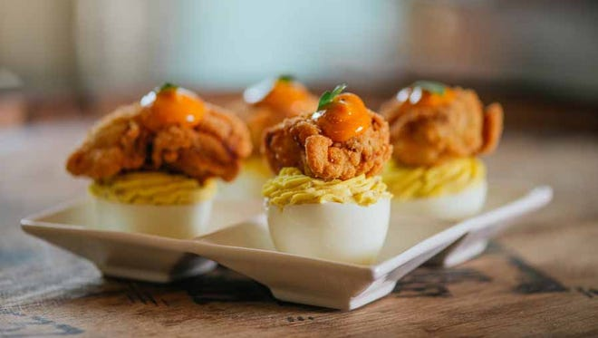 Fried oysters and deviled eggs? Yes, please. You'll want to finish this twist on a classic southern snack.