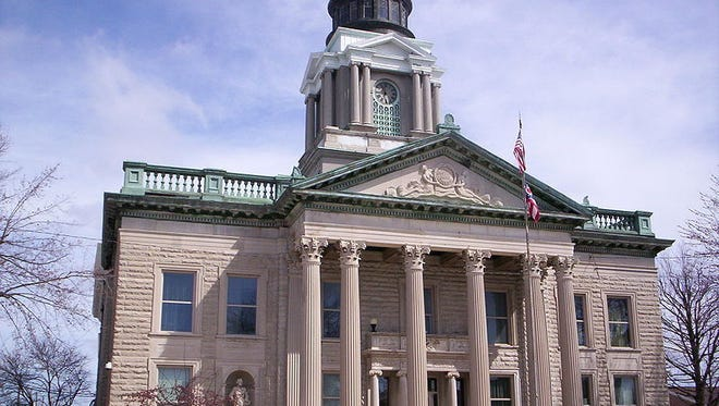 The Crawford County Courthouse dome and roof are in need of repair.  TELEGRAPH-FORUM FILE The Crawford County Courthouse dome is under repair.  Telegraph-Forum file photo Wikicommons