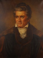 Nov. 18, 2005 - Painting of John C. Calhoun hanging