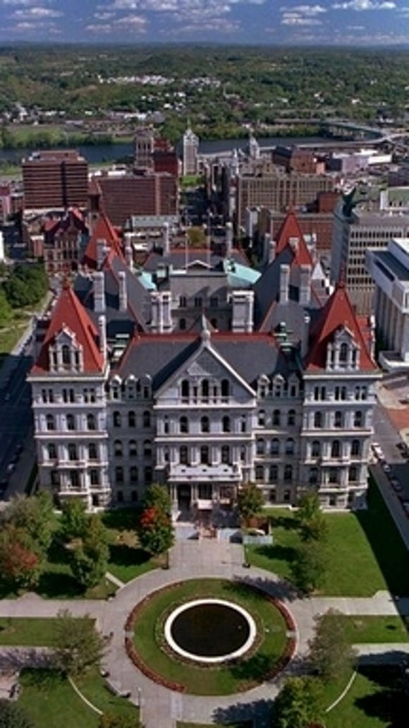 The NY state Capitol in Albany.