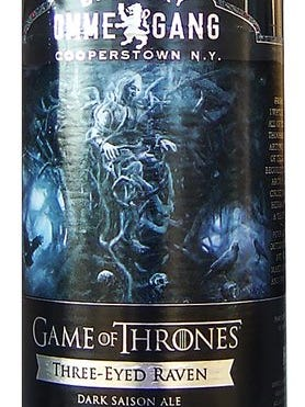 """Three-Eyed Raven, the latest """"Game of Thrones"""" beer from Brewery Ommegang in Cooperstown, N.Y., is 7.2% ABV."""