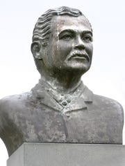 There is the Robert Church bust in Church Park off Beale Street, which also includes sculpture showing outline of auditorium that at its time was the largest place for public assemblies of African Americans in the country.