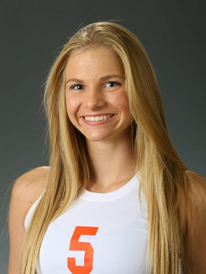 Brooke Nuneviller, from Corona del Sol, is the 2017 Girls Beach Volleyball Athlete of the Year.