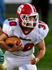 Alec Kramer of Susquehannock runs the ball during York
