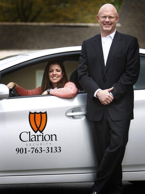 Clarion Security founder Kim Heathcott and her husband, Larry, in 2011