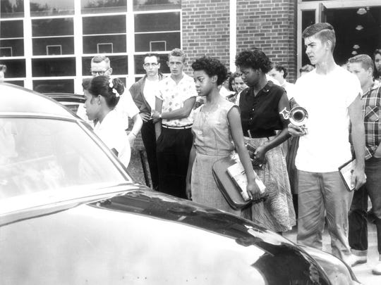 Clinton High School students, from left, Jo Ann Allen,