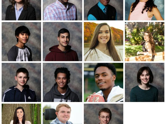 Inductees of the 2017 Youth Hall of Fame: Top row from