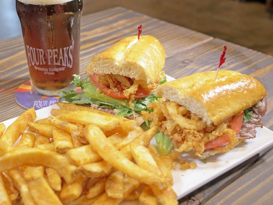 The Tap Room Tenderloin sandwich at Four Peaks Brewing