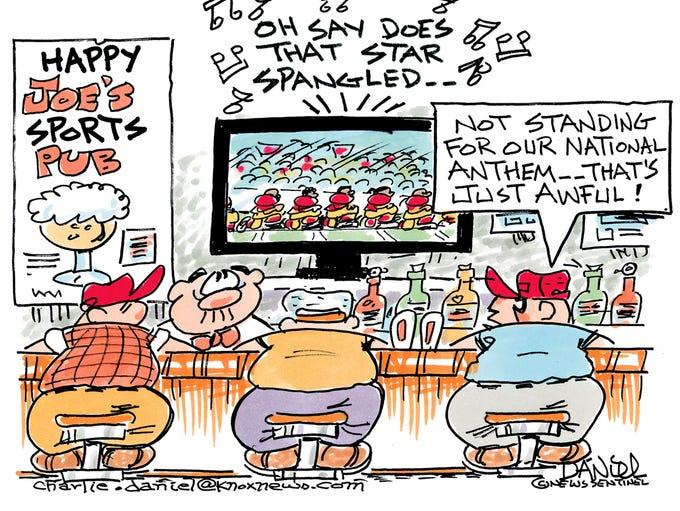 Charlie Daniel cartoon for Sept. 28, 2017