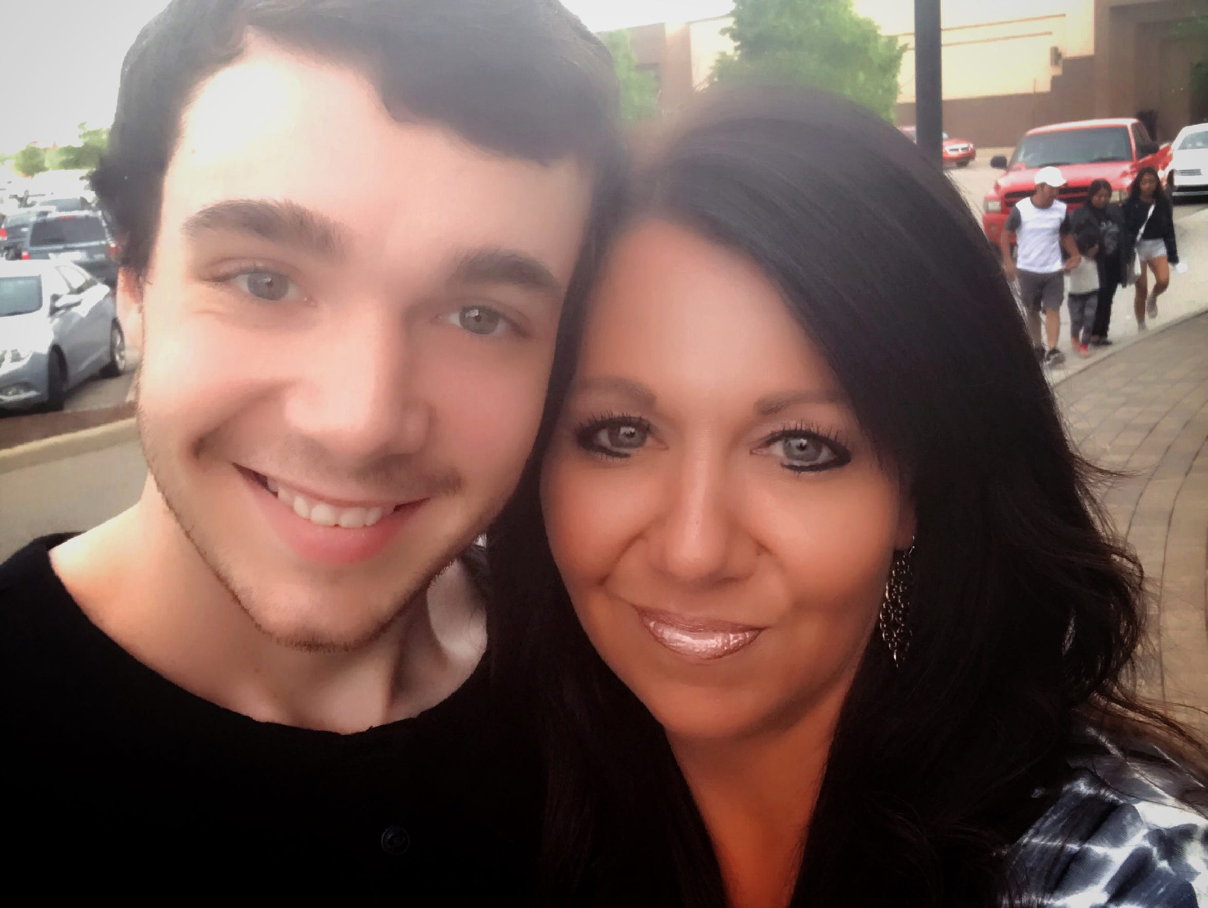 Amanda Cicchinelli with her son, Austin. After he died