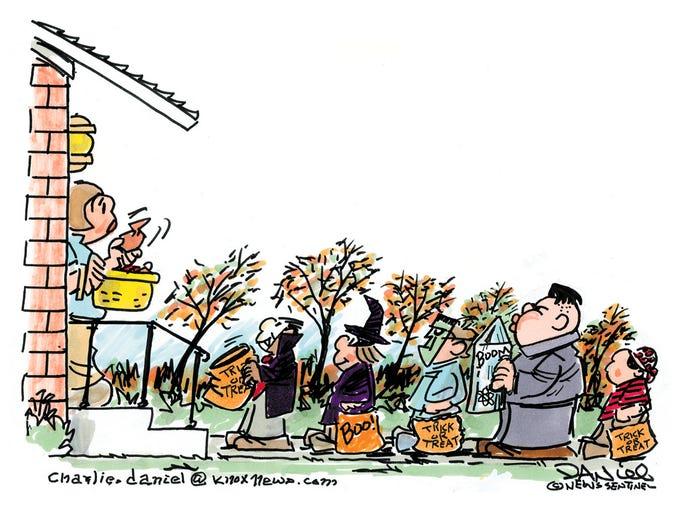 Charlie Daniel cartoon for Oct. 31, 2017