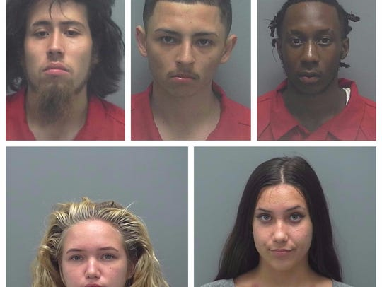 The suspects are (clockwise from top left): Jose Olvera,