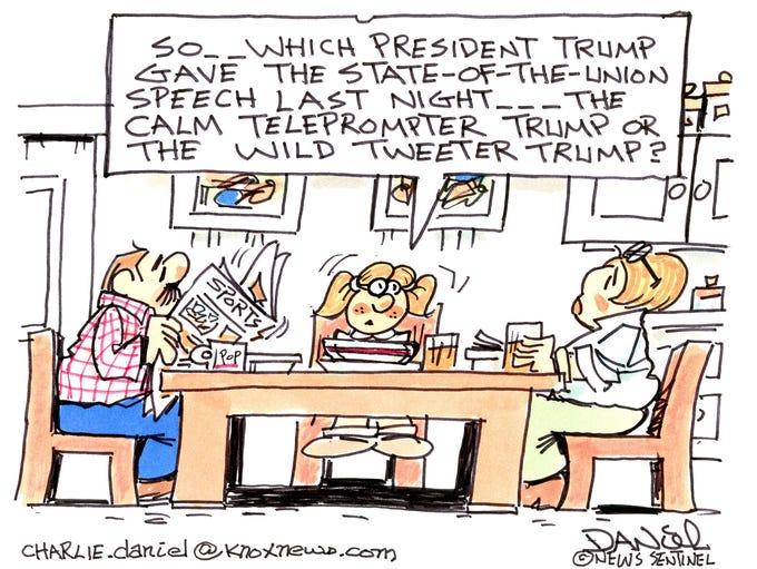Charlie Daniel cartoon for Jan. 31, 2018