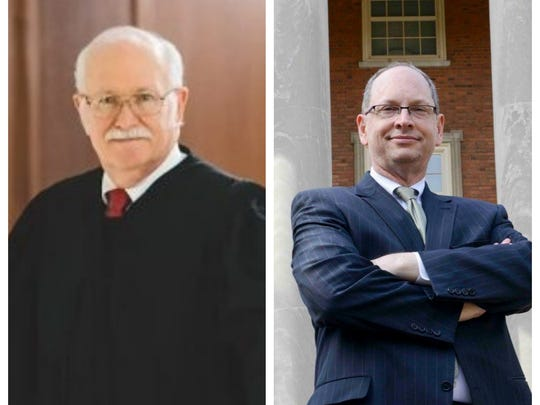 Republican Tom Parker, left, will face Democrat Bob Vance in the November general election for Alabama Supreme Court Chief Justice