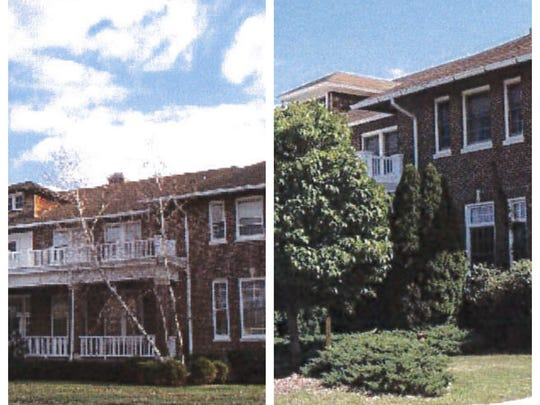 Two historic buildings at Fort Monmouth, Gardner Hall,
