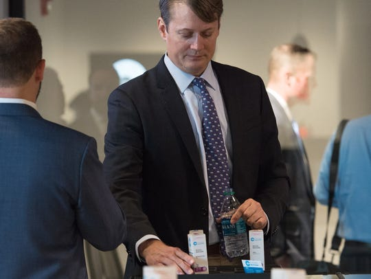 Nicholas Vita, CEO of Columbia Care LLC, during a press