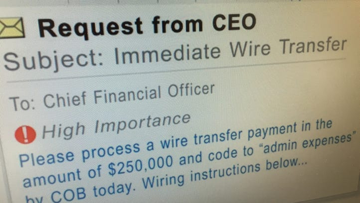 Businesses are being targeted by emails that impersonate