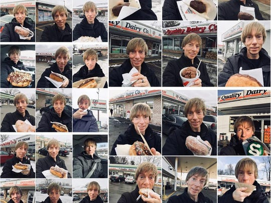 David Jones took a selfie outside each of the 30 Quality