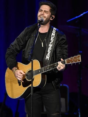 Thomas Rhett  performs at the Bobby Bones Million Dollar show at Ryman Auditorium on Jan. 9, 2017, in Nashville.