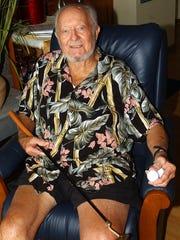 Herb Schoellkopf, owner of Old Pro Golf in his home in Ocean City in 2006.