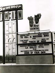 The Summer Twin Drive-In, circa 1965.