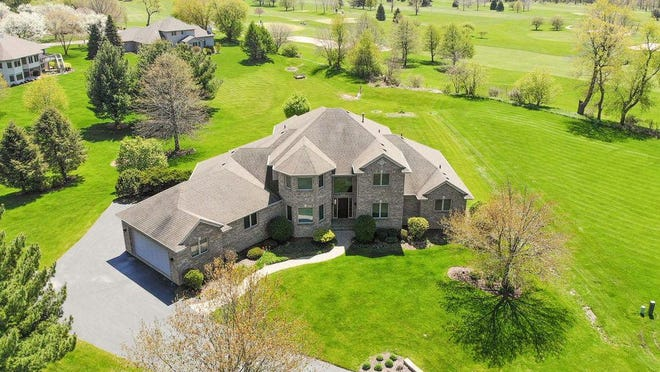 This home features more than 5,558 square feet at 11789 Merrick Court, Caledonia.