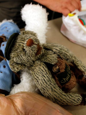 Stuffed animals are used by San Juan County Sheriff's Office officials to comfort children who are victims of abuse.