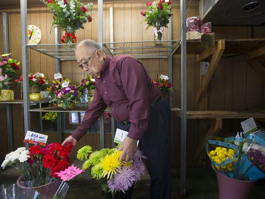 Nick Nakagawa, 92, owner of Baseline Flower Growers, spent  50 years of his life growing flowers on a 100 acres in Phoenix. The land has been sold off to home builders and today the shop gets their flowers from California and Ecuador.
