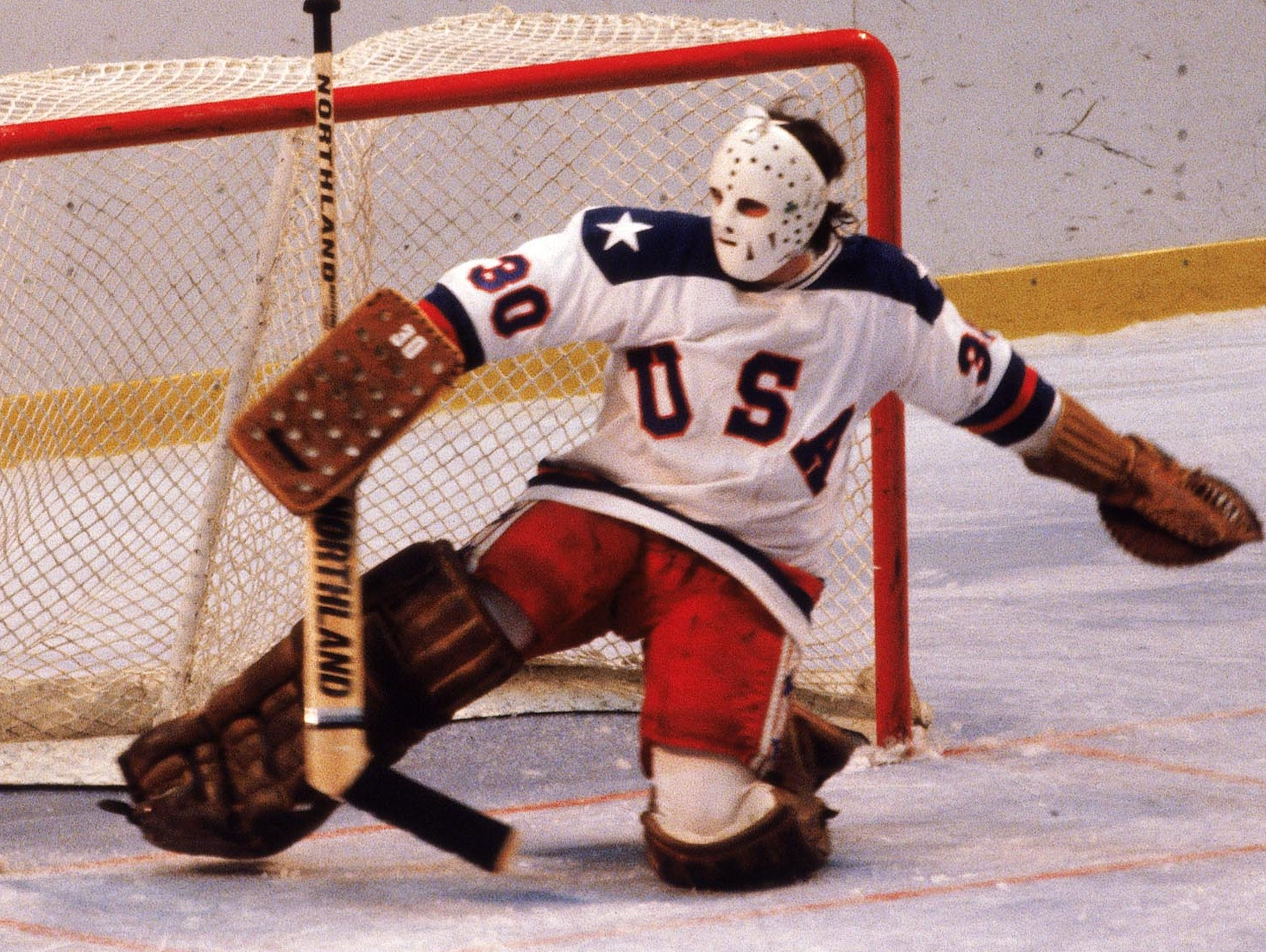 Goalie Jim Craig upset the Soviet Union in the Miracle
